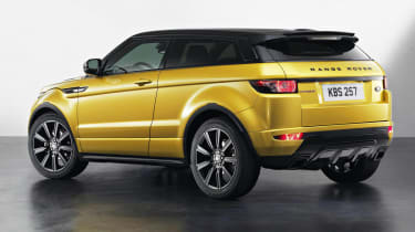 Range Rover Evoque Sicilian Yellow Limited Edition rear view