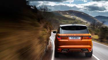 Range Rover Sport SVR rear scenic