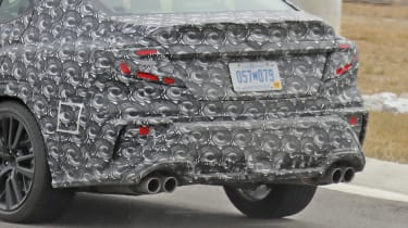 2021 Subaru WRX spied - rear apron