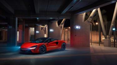 McLaren Artura revealed - orange garage