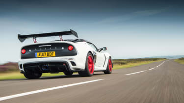 Lotus Exige 380 Cup - rear tracking