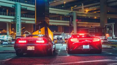 Honda NSXs – rear