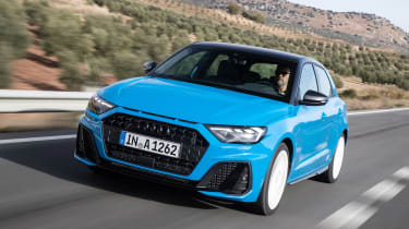 Audi A1 First Edition - blue front quarter