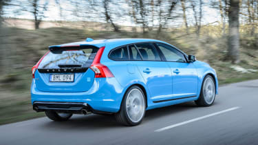 Volvo V60 Polestar Rebel Blue back