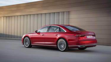 All-new Audi A8 - rear 3/4 red