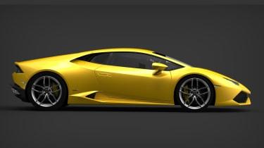Lamborghini Huracan LP610-4 side profile