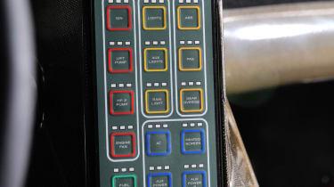 McLaren 12C Can-Am interior controls buttons