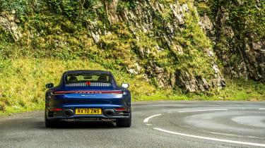 Porsche 911 Carrera S manual blue - rear