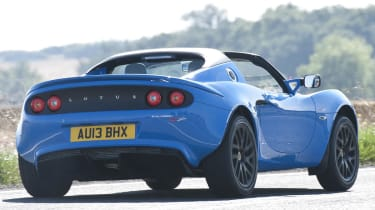 Lotus Elise S Club Racer blue rear