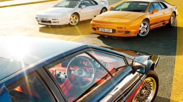 Lotus Esprit supercar group test