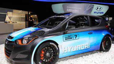 Hyundai i20 WRC Geneva show pics and video