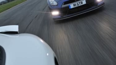 Tiff Needell track battle Porsche 911 Carrera S v Nissan GT-R