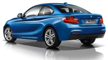 BMW 220d M Sport blue rear