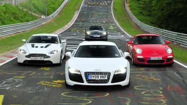 911 GT3 v Vantage V12 v R8 V10 v Corvette ZR1