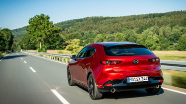 New Mazda 3 Skyactiv-X 2019 review rear tracking