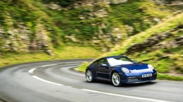 Porsche 911 Carrera S manual blue - front pan