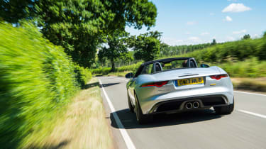 Jaguar F-type 400 Sport rear tracking