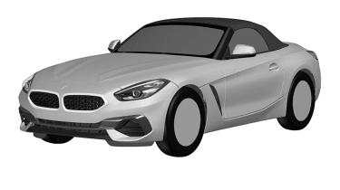 BMW Z4 patent leak - front quarter