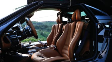 New Pagani Huayra interior leather sports seats