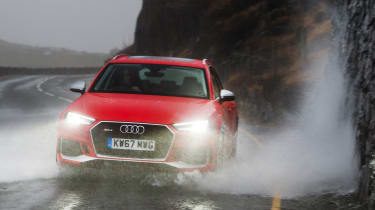 Wettest shoot in history - RS4 front