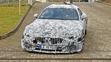 Mercedes SL spy - front