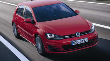 Mk7 VW Golf GTD red front view