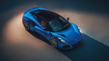 Lotus Emira (press) – front quarter top