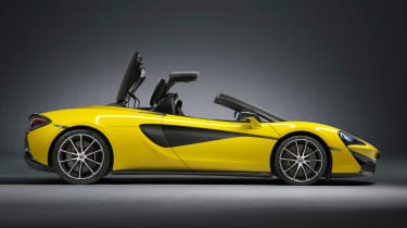 McLaren 570S Spider - profile roof moving
