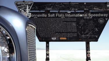 Bonneville salt flats sign
