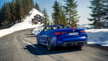 BMW M4 Competition Convertible –rear tracking