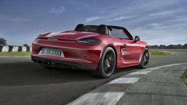 Porsche Boxster GTS red on track