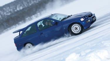 Ford Escort Cosworth snow drift