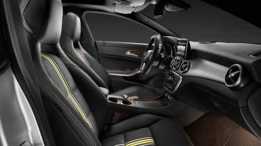 Mercedes-Benz CLA interior front seats