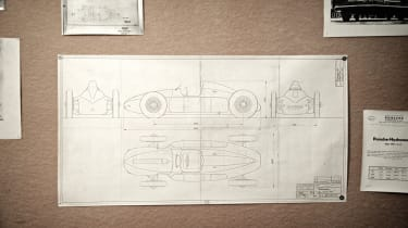 Cisitalia 4WD technical drawings