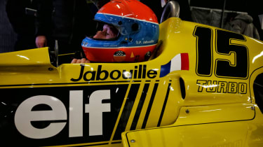 Jean-Pierre Jabouille in the Renault RS01