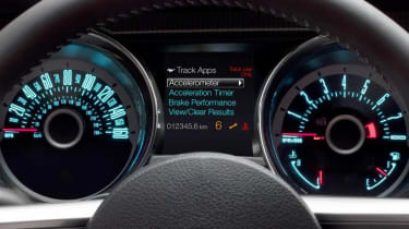 2013 Ford Mustang track apps