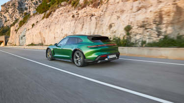 Porsche Taycan Cross Turismo - Turbo S rear tracking