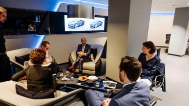 Bugatti showroom - seats