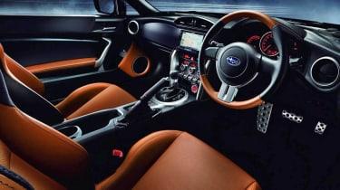 Subaru BRZ Premium Sport Edition black and tan two-tone interior