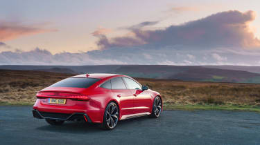 Audi RS7 red - rear quarter static