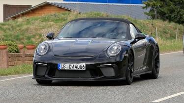 Porsche 911 Speedster spy - front