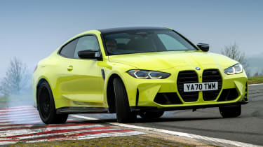 BMW M4 Competition Sao Paulo on track – front slide