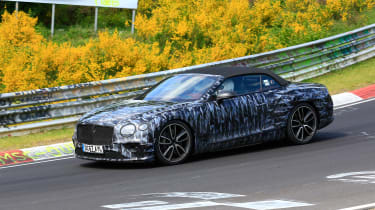 Bentley Continental GT C spy 2018 - front quarter