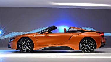 BMW i8 Roadster - profile