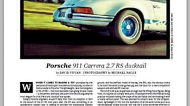 Art of Speed Porsche Ducktail issue 180