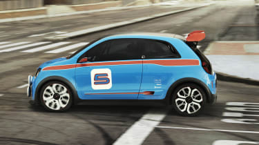 Renault TwinRun V6 hot hatch concept side profile