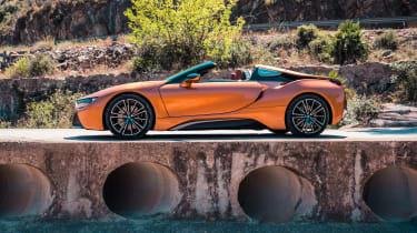 BMW i8 Roadster side