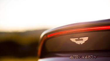 Aston Martin Vantage - silver static rear
