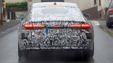Audi A7 spied - rear lights