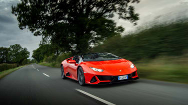 Lamborghini Huracán Evo Spyder – front tracking